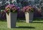 Цветочная ваза Scatola из искусственного ротанга 41х41х100 см (белый, бежевый, серый, коричневый)  0