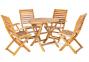 Деревянный складной стол Черри из массива акации Ø 80 см 2