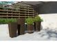 Ваза для цветов Scatola из искусственного ротанга 41х41х80 см (белый, бежевый, серый, коричневый) 5