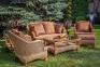 Комплект для отдыха с 2-х местным диваном Estana Premium из натурального ротанга  1