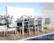 Обеденный комплект мебели из алюминия: стол Oviedo Ø 160 см и 6 стульев Alicante 2