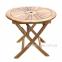 Деревянный складной стол Черри из массива акации Ø 80 см 0