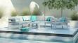 Модульный комплект мебели Barcelona из алюминия  1