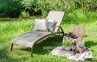 Лежак Монтреал из текстилена и алюминия 0