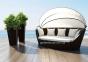 Диван Portofino Modern из техноротанга с балдахином, коричневый 0