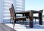 Обеденный стол Rapallo Modern из техноротанга со стеклом 0