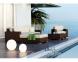 Лежанка из искусственного ротанга, крайний правый модуль мебельной системы Milano Royal  2