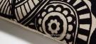 Интерьерная прямоугольная подушка Minimal с черной вышивкой 30x50 см 0