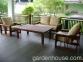 Большое садовое кресло Single Lounge из мербау 0