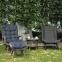 Кресло Mira из искусственного ротанга с черной текстильной подушкой 0