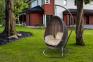 Кресло подвесное Kokon Modern из искусственного ротанга, коричневый 0