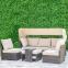Диванный набор мебели Valora из искусственного ротанга с навесом 0