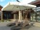 Садовый квадратный зонт XL с деревянной основой 3 м 1