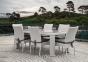 Обеденный стол Rapallo из искусственного ротанга со стеклом, 200 см 5