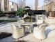 Обеденный стол Рикконе из искусственного ротанга 110 см, белый 3