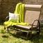 Двухместное садовое кресло-качалка Montreal из алюминия и текстилена 0