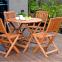 Садовый стол Вуди из дерева меранти Ø 90 см 0