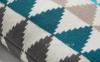 Интерьерная квадратная подушка Adel 45x45 см, многоцветная 0
