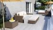 Лежанка, крайний правый модуль мебельной системы Milano Royal из техноротанга 1