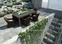Обеденный стол Rapallo из искусственного ротанга со стеклом, 200 см 3