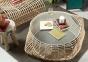 Кофейный столик Bettel из натурального ротанга со стеклом 2
