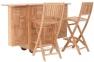 Комплект тиковой мебели для бара: барная стойка и 2 барных стула 0