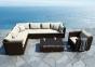 Двухместный  закругленный диванный модуль Venezia Modern из техноротанга, левый 0