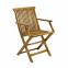 Столовый комплект садовой мебели Finlay из акации: стол и 4 стула с подлокотниками 3