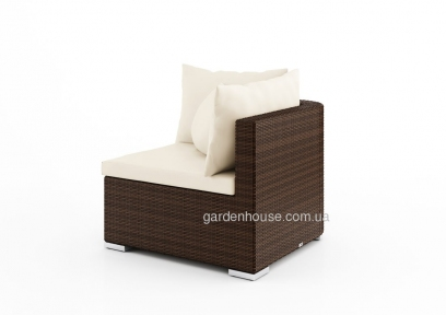 Угловой диванный модуль Venezia Modern из искусственного ротанга