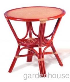 Плетеный стол с ротанговой столешницей Ø 78 см