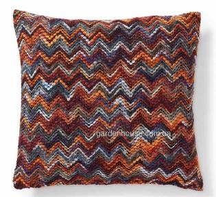 Декоративная подушка Cubik с вышитым рисунком 45x45 см, многоцветная