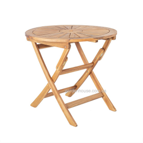 Деревянный складной стол Черри из массива акации Ø 80 см