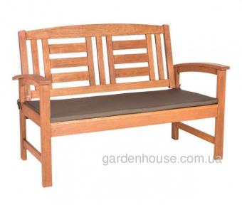 Деревянная садовая лавка Вуди из массива меранти, 125 см