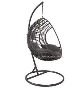 Подвесное кресло Bora из искусственного ротанга, коричневый