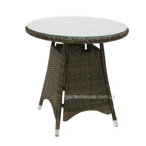 Ротанговый стол Wicker для балкона 60х60 см