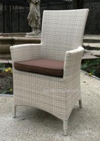 Кресло Самер из искусственного ротанга, светло-бежевое