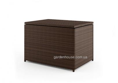 Вещевой ящик Scatola Modern из искусственного ротанга, коричневый