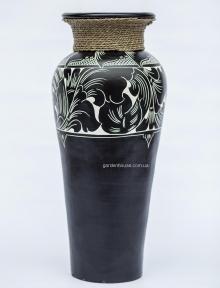Ваза напольная с веревкой, керамика (60 см, 80 см, 1 м)