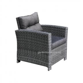 Садовое кресло Pavia из искусственного ротанга (серо-бежевый, темно-серый)
