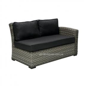 Садовый диван Geneva из искусственного ротанга, правый модуль