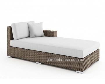 Лежанка, крайний правый модуль мебельной системы Milano Royal из техноротанга