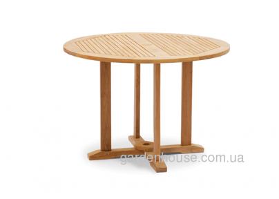 Обеденный стол Andria из тика Ø 110 см, круглый