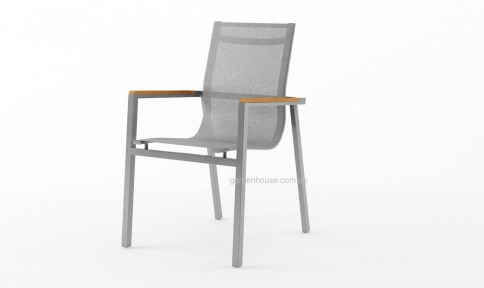 Садовый стул Lugo Stone & Wood c элементами из тика