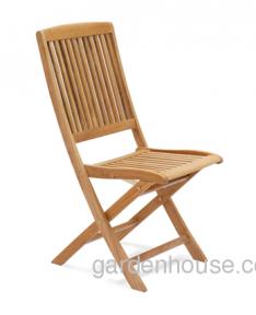 Складной деревянный стул Cremona из тика, без подлокотников
