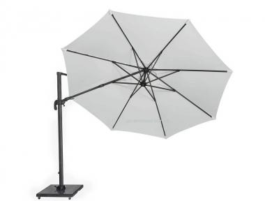 Круглый садовый зонт SolarFlex T2 Ø 3,5 м с основанием Modena (белый, коричневый, антрацит)