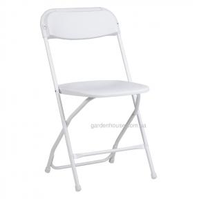 Складной садовый стул без подлокотников Elliot, белый