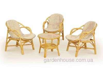 Комплект мебели из натурального ротанга для террасы