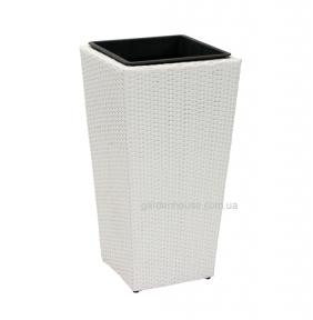 Садовая ваза Wicker из искусственного ротанга (38х38х72 см, 29х29х52 см), белый