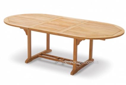 Стол садовый Fusion из тикового дерева, 120/180х80 см