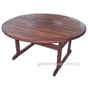 Большой круглый стол Stanford из мербау 185 см